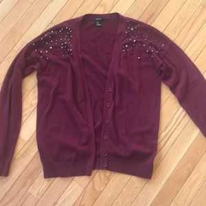 Cardigan with Jeweled Details